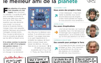 40 défis pour protéger la planète en lumière dans le magasine Mon quotidien