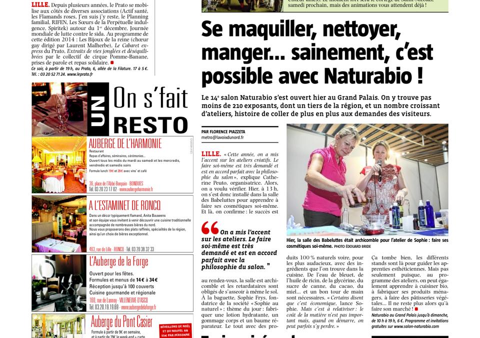 Le Salon Naturabio 2014 – Animations cosmétique naturelle